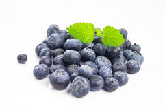 Blueberries and leaf on isolate background Stock Image