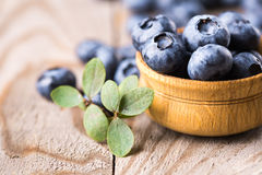 Blueberries with leaves Royalty Free Stock Image