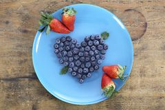 Blueberries with love Stock Photo