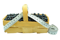 Blueberries and meter Royalty Free Stock Images