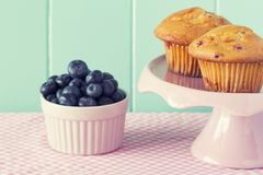 Blueberries muffin Stock Photos