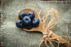 Free Blueberries On A Spoon Stock Photography - 28992982