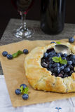 Blueberries pie Stock Image