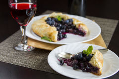 Blueberries pie Stock Photography