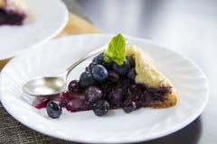 Blueberries pie slice Royalty Free Stock Photo