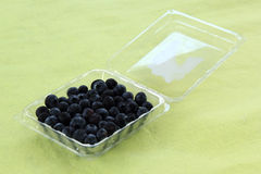 Blueberries in a Plastic Box Royalty Free Stock Photo