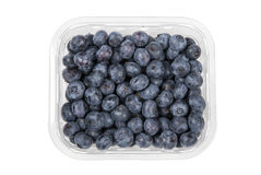 Blueberries in a plastic container Stock Photo