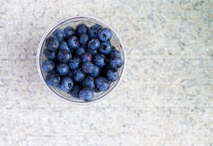 Blueberries in a plastic cup Stock Photography