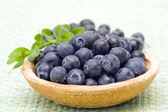 Blueberries on a plate Royalty Free Stock Photography