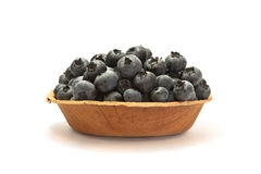 Blueberries on a plate   on white Stock Image