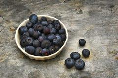 Blueberries in Ramekin Stock Photo