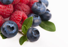 Blueberries, raspberries Royalty Free Stock Photos