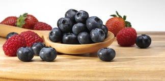 Free Blueberries Raspberries Royalty Free Stock Photography - 90991437