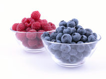 Blueberries and raspberries Stock Photo