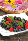 Blueberries, raspberries, blackberries Stock Images