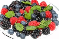 Blueberries, raspberries, blackberries Royalty Free Stock Photography