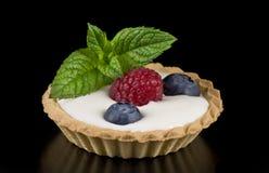 Blueberries and raspberries dessert Royalty Free Stock Image