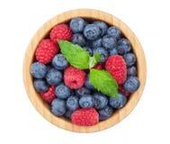 Blueberries and raspberries Stock Image