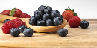 Blueberries Raspberries Royalty Free Stock Photography