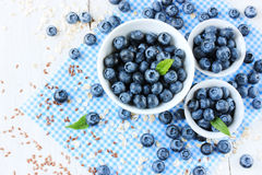Blueberries ripe berry healthy food background Stock Photo