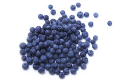 Blueberries scattered on the white background Stock Photography
