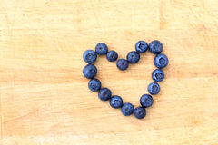 Blueberries in the shape of heart Stock Photo