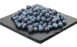 Blueberries on slate Stock Photography