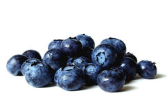 Blueberries in a small pile royalty free stock images
