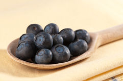 Blueberries On Spoon Royalty Free Stock Images