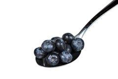 Blueberries in spoon Stock Photos