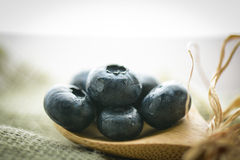 Blueberries on a Spoon Stock Photo