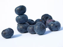 Blueberries stacked Royalty Free Stock Photo