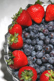 Blueberries strawberries Stock Photography