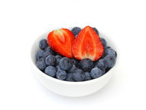 Blueberries and strawberries Royalty Free Stock Photography