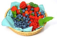 Blueberries, Strawberries and Raspberries Stock Images