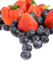 Blueberries and strawberries Stock Image