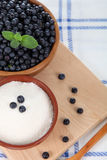 Blueberries and sugar Royalty Free Stock Image