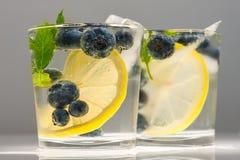 Blueberries summer lemonade Stock Images