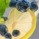Blueberries summer lemonade Royalty Free Stock Photo