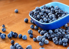 Blueberries on table Stock Image