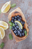 Blueberries on  table Royalty Free Stock Photography