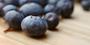 Blueberries on a table Royalty Free Stock Images
