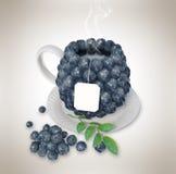 Blueberries tea cup. Healthy food. Blueberries drink Royalty Free Stock Photos