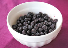 Blueberries thawed. Fruit close up Royalty Free Stock Photos