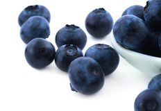 Blueberries on white Royalty Free Stock Images