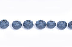 Blueberries on white background Royalty Free Stock Photos
