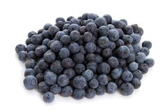 Blueberries on White Background Stock Images