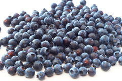 Blueberries on white background. Bunch of fresh blueberries on white background Stock Photos