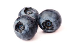 Blueberries  on white background. Closeup of blueberries  on white background Stock Images