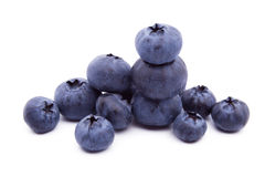 Blueberries on white background Stock Photo